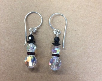 Swarovski Snowman Earrings, FREE SHIPPING