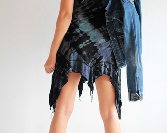Tie dye short spandex TD dress fit for S,M