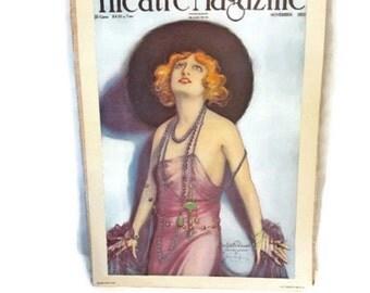 Vintage 1974 poster - Theatre Magazine cover reproduction -Estelle Winwood - Hamiton King 1918 portrait