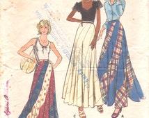 Butterick 3557  1970s Misses Swirl Skirt Pattern Maxi Swirler Pattern Womens Vintage Sewing Pattern Size Small Waist 25  Hip 34 1/2