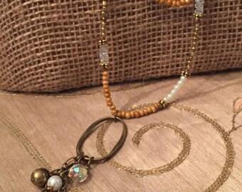 Antique Pearl Long Necklace
