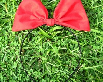 Red Hair band bow headband for Kiki's delivery service cosplay