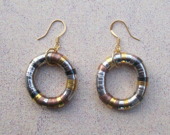 SHAPESHIFTERS - Dangle Hoop Earrings - Industrial Steampunk Jewelry