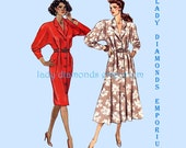 Butterick 3096 Womens Vintage 80's Slim or Flared Dress Shirtdress size 12 14 16 Bust 34 36 38 Average to Plus Size Sewing Pattern Uncut FF