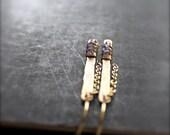 Iolite Stick Chain Dangle Earrings - Oxidized Gold Brass, Wire Wrap Bar, Metalwork, Long Gemstone Earrings, Boho Jewellery No.2
