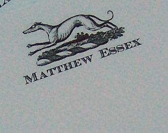 Greyhound ,Whippet, Italian Greyhound ,Dog, Personalized Handmade Notepad Note Pad Monogrammed Sighthound  Handmade HappyHound 75 Sheet
