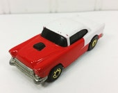 1955 Chevy, Cherry Red and White Chevy 1986 Release Hot Wheels, Loose