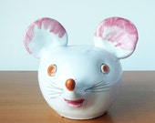 Vintage De Simone Mouse Bank, Smiley Face Ceramic, Reto Decor, Italian Pottery