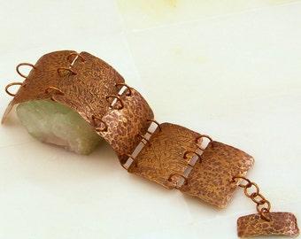 Hammered Brass Bracelet | Statement Bracelet | Brass Cuff Bracelet | Handmade Wide Brass Bracelet | Brass Bracelet for Women | Hammered Link