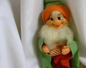 Vintage Christmas Gnome, Vintage Christmas Elf, Gnome Ornament, Christmas Gnome