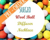 PREORDER Wool Ball Wire Cage Diffuser Necklace SUEGEO