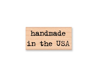 handmade in the USA~Rubber Stamp~handcrafted in the USA~Rubber Stamp~Two Style Options~wood mounted~Mountainside Crafts (37-22H)(37-24C)