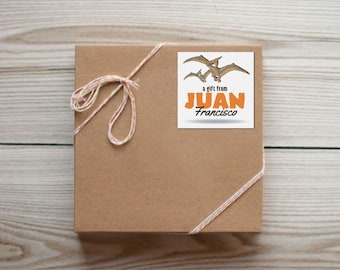 Set of 25 Personalized Pterodactyl Dinosaur Enclosure Cards Contact Cards Calling Cards or Gift Tags