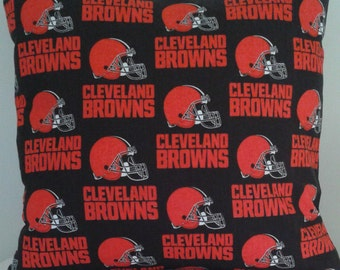Cleveland Browns Pillow Covers 16 x 16 - Set of 2