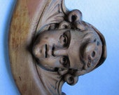 Reserved for Jeanine....Antique Hand Carved Cherub Angel Architectural Fragment