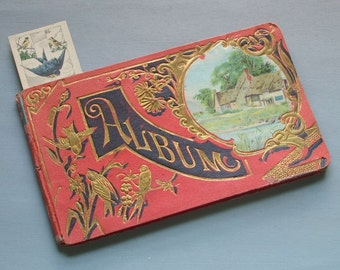 Antique 1913 Autograph Album & Bookmark to Coral Made in Germany