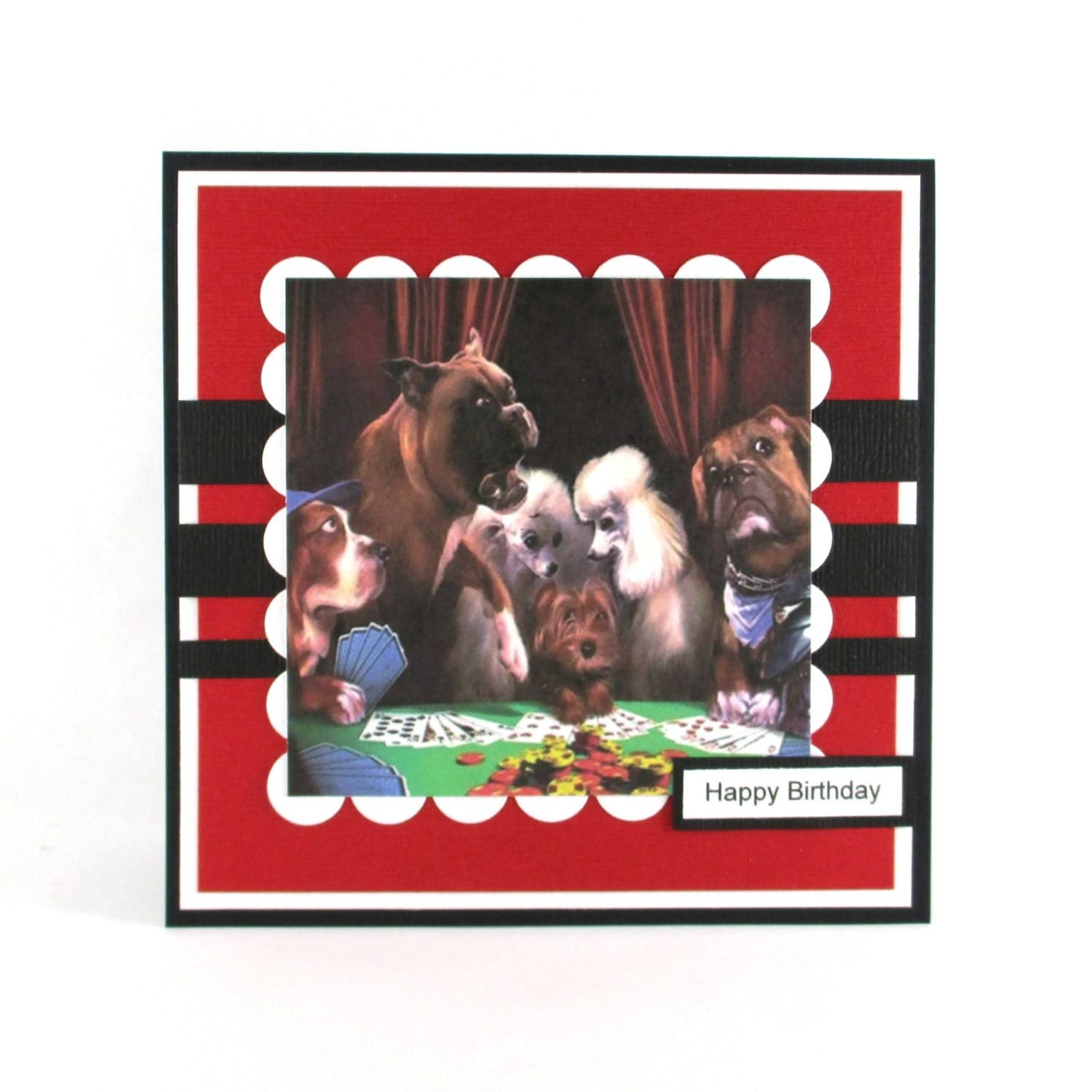 Mens Birthday Cards Poker Dogs Dog Poker By BellaCardCreations
