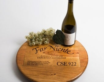 """Far Niente Wine Crate featured on our 16"""" Lazy Susan"""