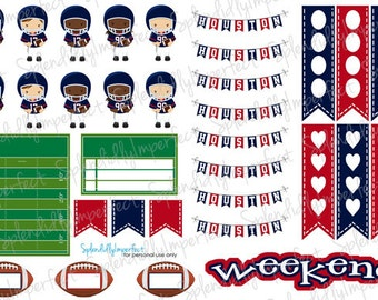 Houston Football Planner Stickers