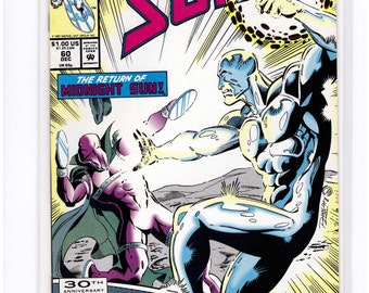 Issue #60 Marvel SILVER SURFER Comic Book in Vf-Nm Condition