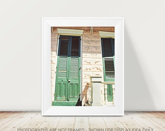 New Orleans Architecture Photograph, Door Photography, Slatted Doors, Door Photo, French Quarter, Travel Photography, Pink Peach, NOLA Art