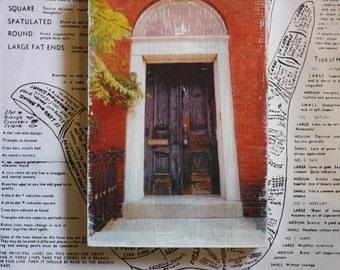Burlington Door - 4 x 6 Mixed Media Miniature