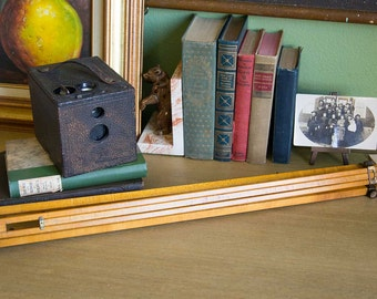 Kodak No. 2 Bulls-Eye Camera Model D with Matching Wooden Tripod - 1899