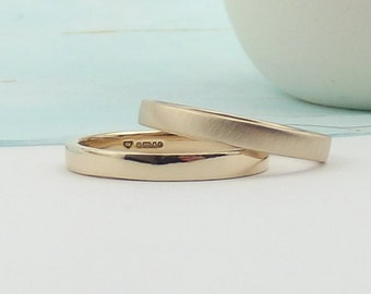 Rose Gold Wedding Ring - Matte or Polished Finish - gold wedding band - rose gold - gold wedding ring-rose gold wedding ring-silver synergy
