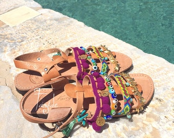 FREE SHIPPING - Calypso - Leather Gladiator sandals / women's sandals / authentic / greek leather sandals / handmade stylish sandals
