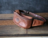 Leather Hip Pouch or Fanny Pack From 80s Roots Brand Vintage From Nowvintage on Etsy