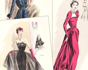 """PDF of 50s sewing pattern catalog - """"Creations de Haute Couture"""" - instant download"""