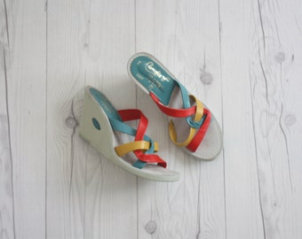 1970s rainbow wedges