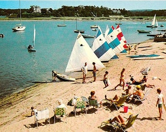Vintage Cape Cod Postcard - Megansett Beach in North Falmouth (Unused)