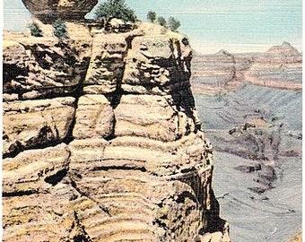 Vintage Arizona Postcard - Duck on the Rock, Grand Canyon National Park (Unused)