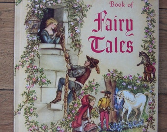 vintage 60s TASHA TUDOR bokk of Fairy Tales children boy girl