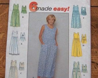 1999 simplicity pattern 8657 misses dress back variations sz 18-20-22 uncut