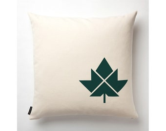 Maple Leaf Pillow in Off-White with fill