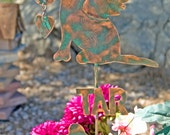 SOLD Labrador Retriever Garden Stake / Metal Garden Art / Pet Memorial / Copper Art / Yard Art / Angel Dog / Pet Sculpture / Name Plate