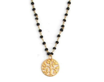 Mangalsutra Tree of Life Necklace - Grounding Nurturing Protection, Yoga Inspired Jewelry, Tree of Life Pendant, Yoga Necklace