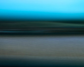 Green Dawn, turquoise, racing green, abstract landscape photo, coastal wall art, abstract giclee, huge abstract canvas, surreal sea, unique