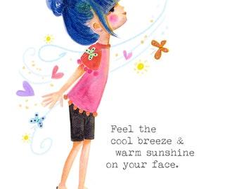 Feel The Breeze  - PRINT