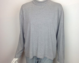 VTG Gray Cotton Turtleneck