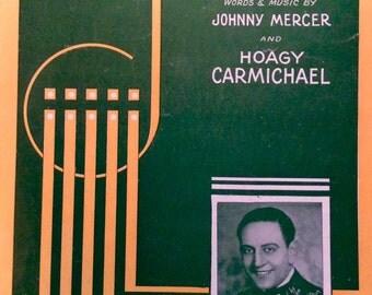 Lazybones--Vintage Sheet Music, 1933 (r)