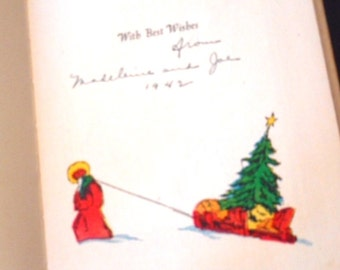 Collectible Vintage Book The Message of the Bells or What Happened To Us On Christmas Eve  by Hendrik van Loon