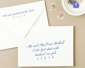 INSTANT DOWNLOAD   Printable Wedding Envelope Template   Handwritten Font   Calligraphy Alternative   for Word or Pages Mac & PC