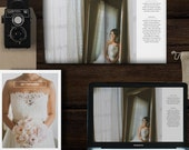 Wedding Photography Magazine Template - New Client Studio Welcome Packet - Minimal Wedding Photographer Branding - m0080