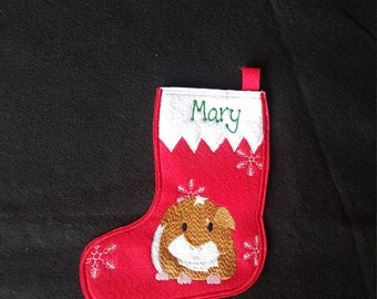 Guinea Pig Christmas Stocking-PERSONALIZED
