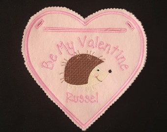 Hedgehog  Valentine Cage Heart Decoration-Personalized