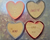 Heart magnets  -set of 4