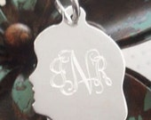 Engravable Sterling Silver Girl Silhouette Charm